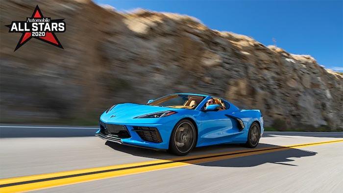 2020 Corvette is an Automobile Magazine All-Star