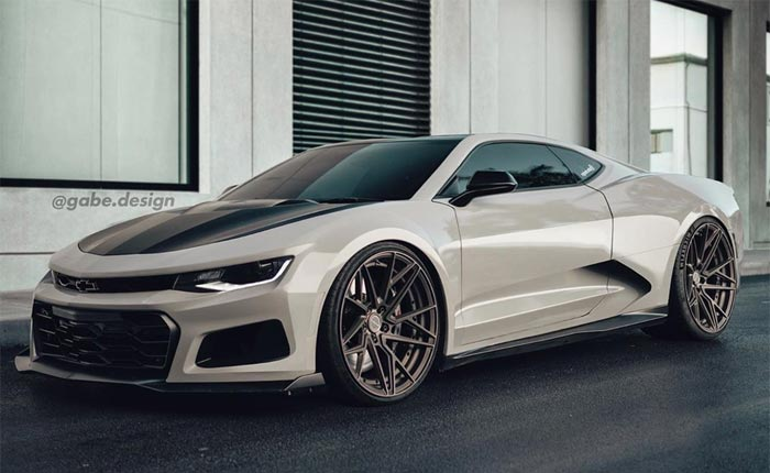 [PIC] Rendered Mid-Engine Camaro Could Be Perfect Sidekick to the C8 Corvette