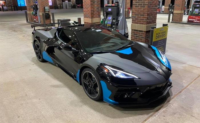 [PICS] Black 2020 Corvette Stingray With Highwing Now Rocking an Urban Camoflauge