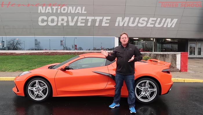 [VIDEO] John Hennessey Picks Up His 2020 Corvette in Detroit and Drives 1400 Miles to Texas