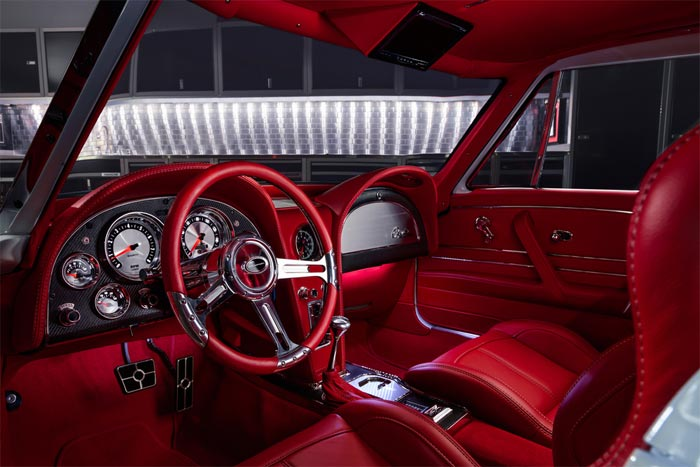 1963 Custom Corvette Split Window has Custom Red Interior to Die For