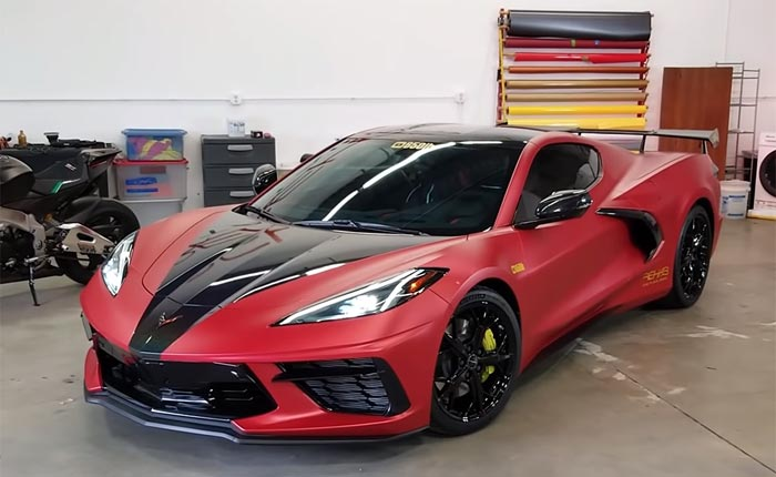[VIDEO] Watch this 2020 Corvette Receive a Custom Wrap and Graphics
