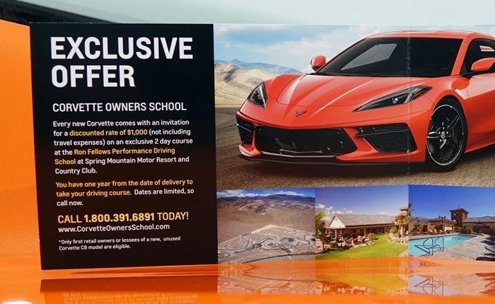 [PICS] Spring Mountain's C8 Corvette Owner School Brochure