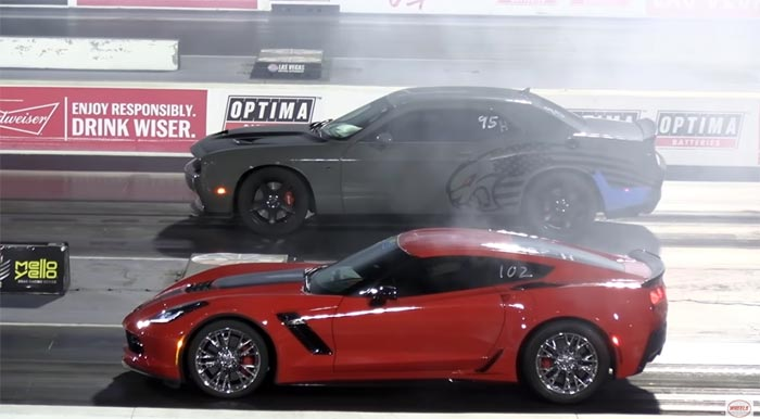 [VIDEO] C7 Corvette Z06 vs Hellcat and Audi RS6 at the Drag Strip