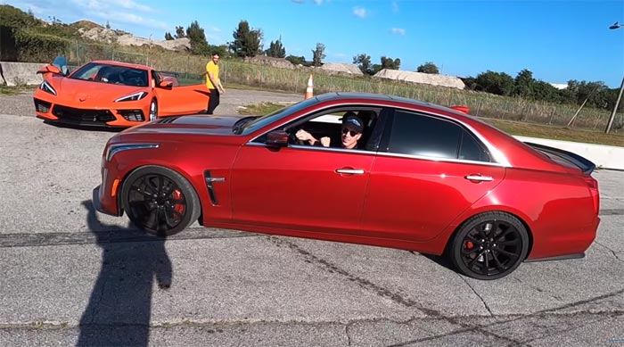 [VIDEO] 2020 Corvette Takes Down a 640-hp Cadillac CTS-V from a Dig