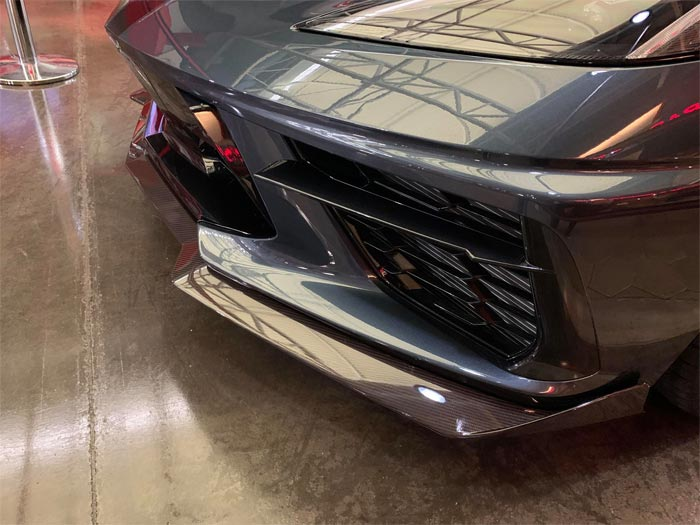 [PICS] The Hash Mark Graphics on the 2020 Corvette Are Made Up of Tiny C8 Crossed-Flag Logos