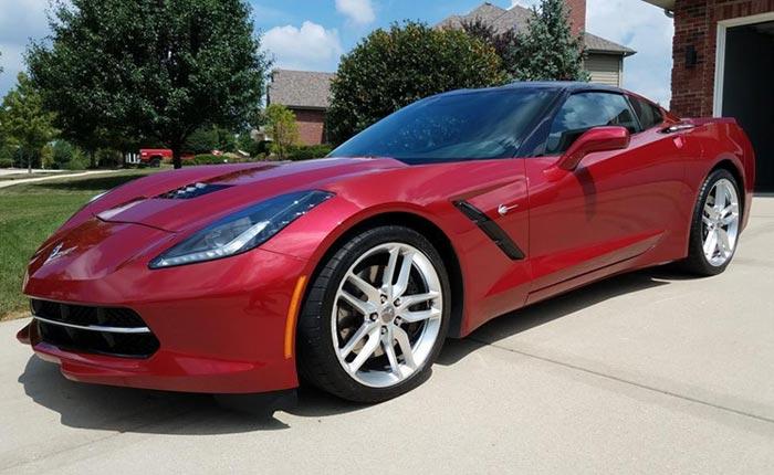 2014 Corvette Stingray in Crystal Red Metallic