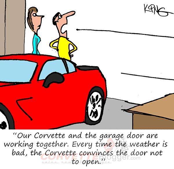 Saturday Morning Corvette Comic: Rain-Sensing Garage Doors