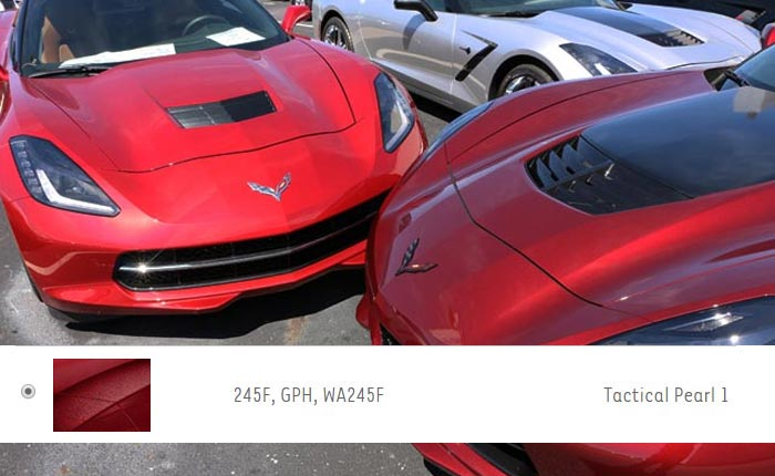 Touch-Up Color Chip Provides First Look at the New Red Mist Exterior for 2021 Corvettes