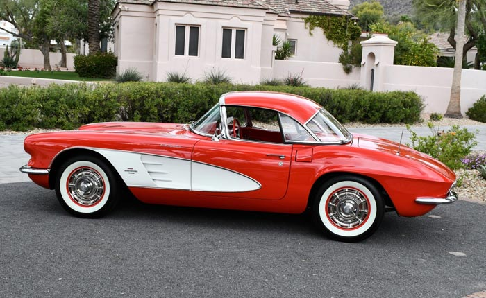 Corvettes for Sale: Carbureted 1961 Corvette With Uninstalled Fuelie Unit on Bring a Trailer