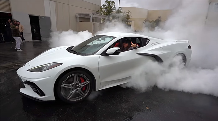 [VIDEO] YouTuber Turns Her 2020 Corvette Stingray Into a Burnout Machine