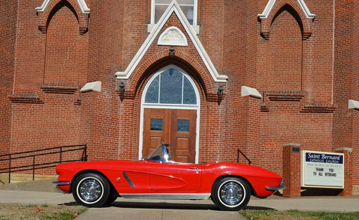 You Can Win This 1962 Corvette Fuelie in the Saint Bernard 32nd Annual Classic Corvette Giveaway
