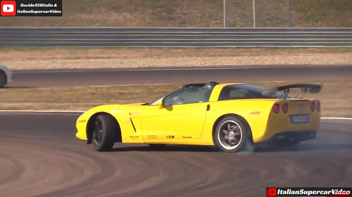 [VIDEO] Tire-Burning C6 Corvette Drifts Its Way Around Italy's Modena Racetrack