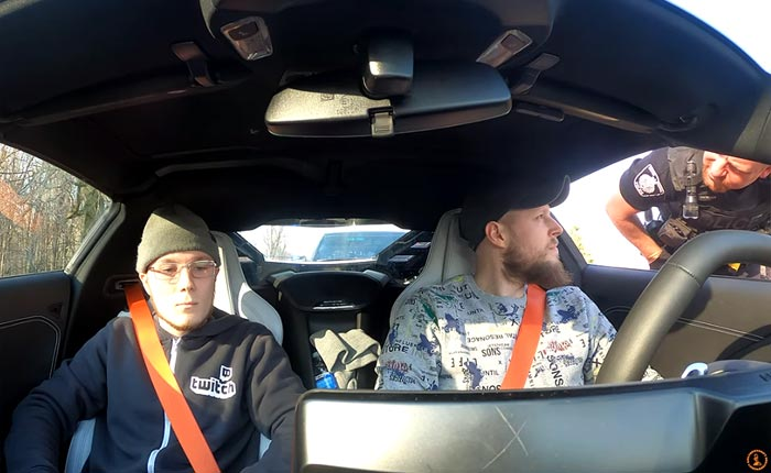 [VIDEO] YouTubers Pulled Over After Testing the 2020 Corvette's Launch Control