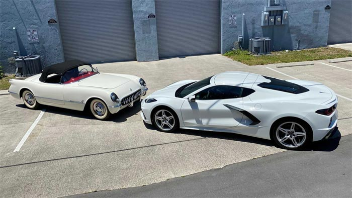 [PICS] Owner's 2020 Corvette Stingray No. 239 is VIN-Matched to His 1953 Corvette