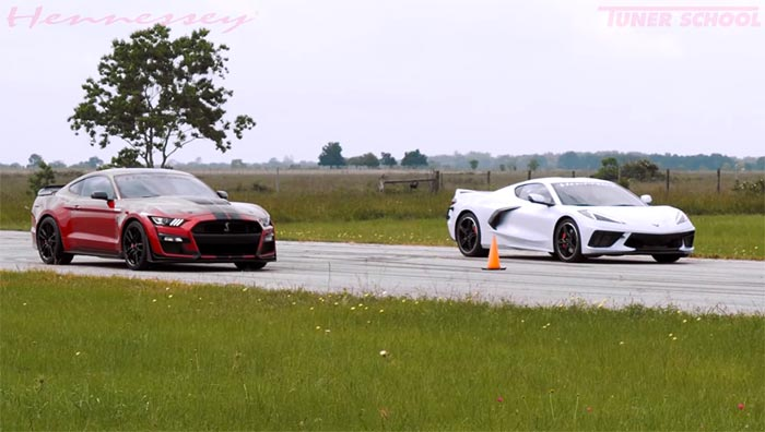 [VIDEO] Hennessey Races a Stock 2020 Corvette vs a 760 HP 2020 Shelby GT500