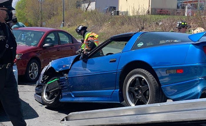 [ACCIDENT] Custom C4 Corvette Struck By Red Light Runner in Pennsylvania