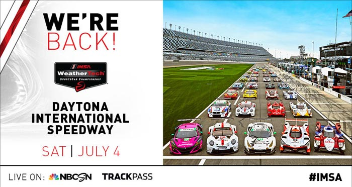 IMSA to Restart Revised 2020 Schedule with a Nighttime Race on July 4th at Daytona International Speedway