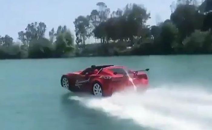 [PICS] C7 Corvette Body Mounted to Speedboat in Turkey