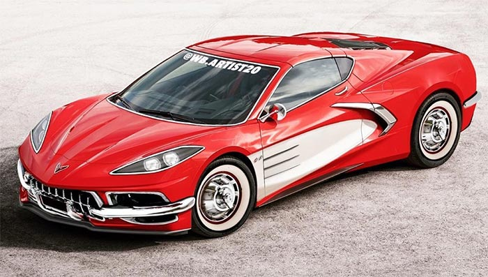 [PICS] The Mid-Engine C8 Corvette Given a C1 Makeover Complete with Chrome and Coves