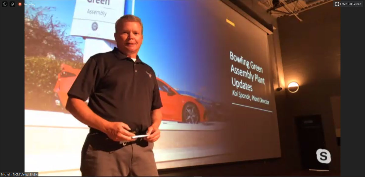[PICS] Corvette Assembly Plant Manager Kai Spande Provides Production Update During the Virtual NCM Bash