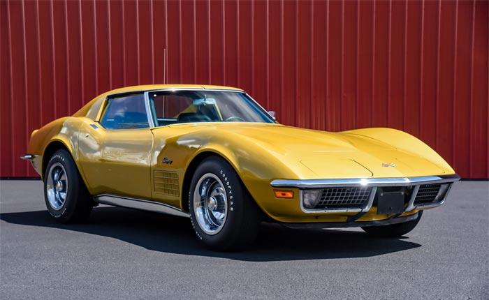 Corvettes for Sale: 7,200 Original Mile 1971 Corvette in War Bonnet Yellow