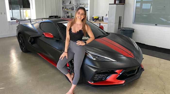 [VIDEO] 2020 Corvette Stingray is Wrapped in Satin Black with Red Accents