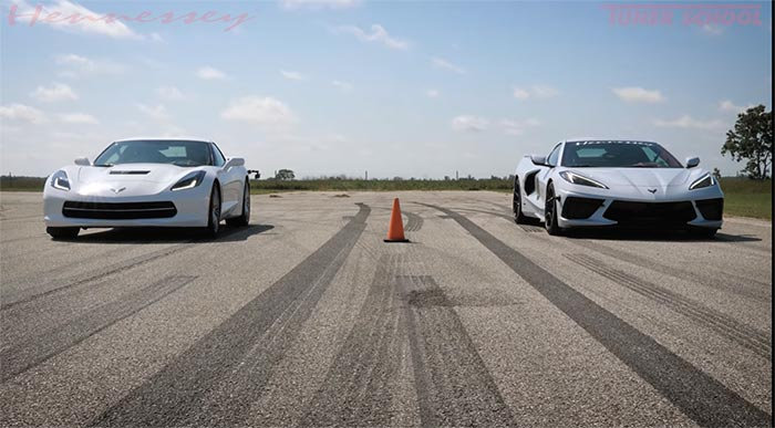 [VIDEO] Hennessey Races the C7 Corvette Stingray Against the C8 2020 Corvette