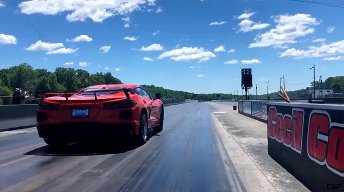 [VIDEO] 2020 Corvette Stingray with Drag Radials Runs 10.922 in the Quarter Mile