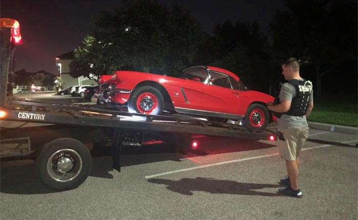 Stolen 1962 Corvette was recovered in an area apartment complex