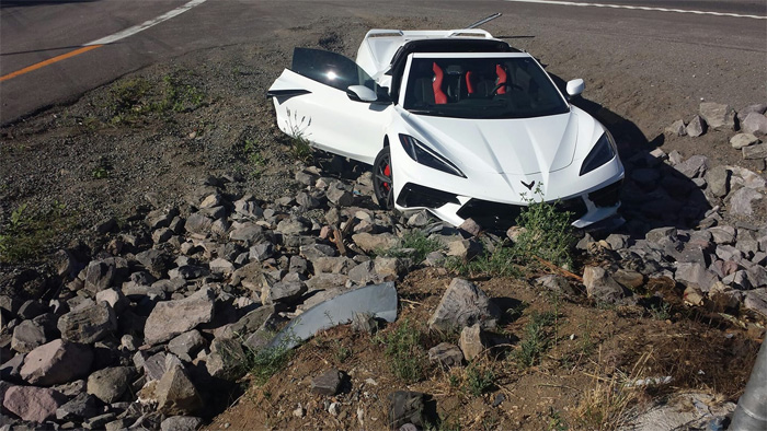[ACCIDENT] 2020 Corvette Ends Up in a Rock Pile After Missing Exit