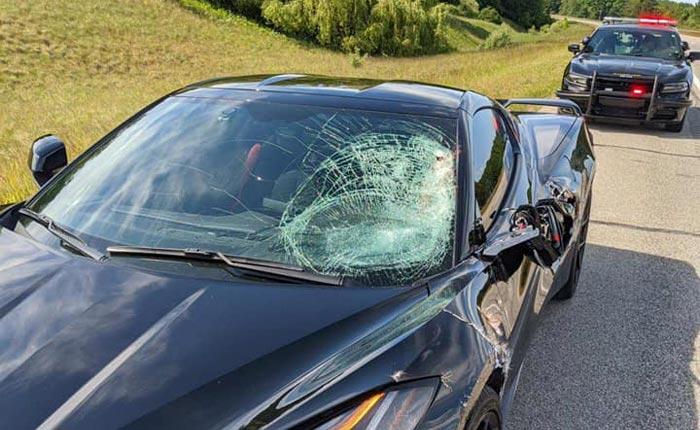 [ACCIDENT] 2020 Corvette Damaged After Striking a Deer on a Highway