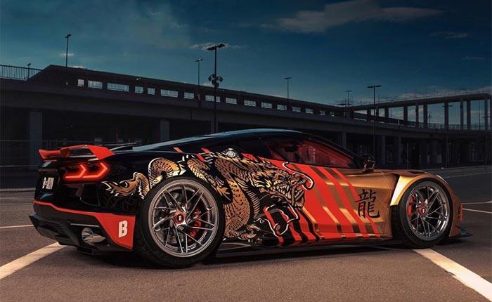 [PICS] Ride the Dragon! Digital Designers Offers Up The Golden C8 Corvette