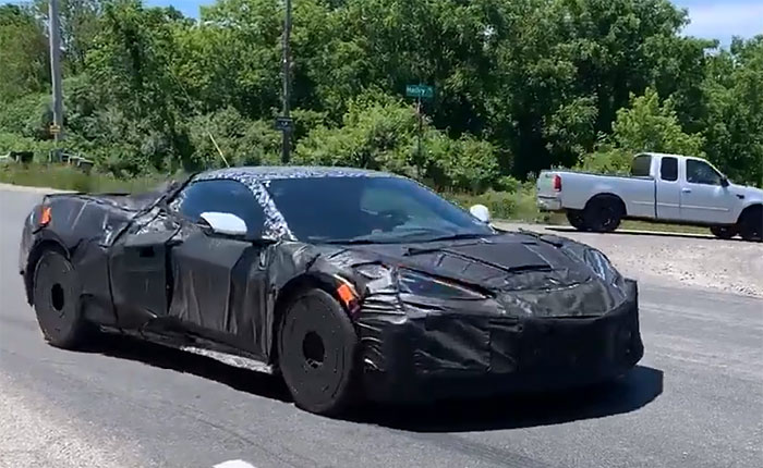 [SPIED] Listen to These C8 Corvette Z06 Prototypes as They Leave a Park