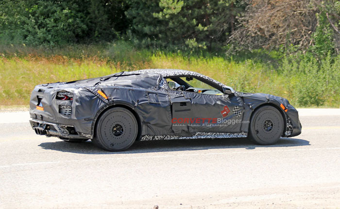 C8 Corvette Z06 Coupe and Convertible Spied with Center Mounted Exhaust