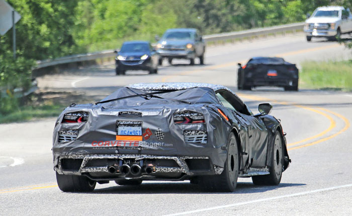 [VIDEO] C8 Corvette Z06 Coupe and Convertible Spied with Center Mounted Exhaust