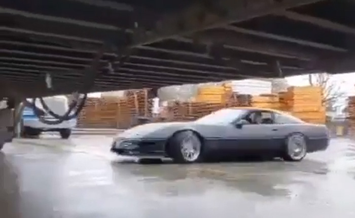 [VIDEO] A C4 Corvette Driver Channels Fast N Furious By Drifting Under a Semi Trailer