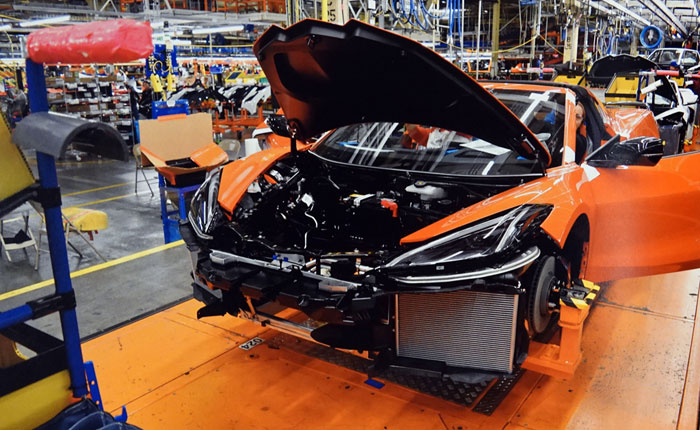 Corvette Assembly Plant Working Overtime Ahead of July 4th Break