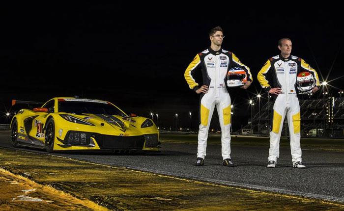 Corvette Racing's No. 3 C8.R with drivers Jordan Taylor and Antonio Garcia