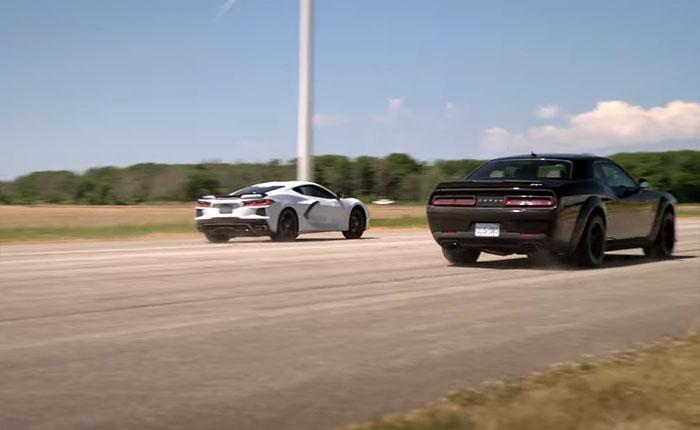 [VIDEO] 2020 Corvette vs the 808-HP Dodge Demon on Throttle House