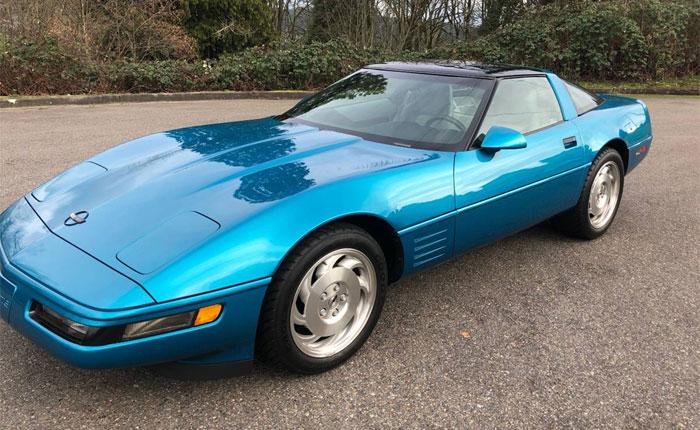 Corvettes on Craigslist: Rare Aqua Metallic 1994 Corvette with 4,229 Original Miles