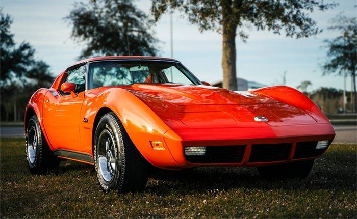 Corvettes for Sale: Orange/Silver 1974 Corvette with New Upgrades Offered on Craigslist