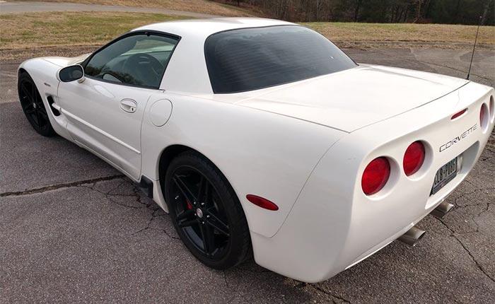 Corvettes for Sale: Speedway White Unicorn 2001 Corvette Z06 on Facebook