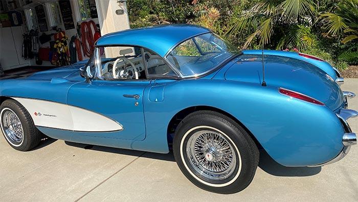 Corvettes for Sale: Nassau Blue 1956 Corvette Restomod