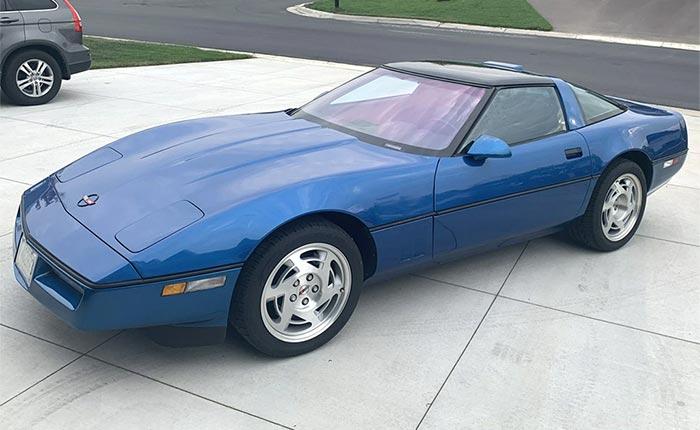 Corvettes for Sale: 1,000-Mile 1990 Corvette ZR-1 in Rare Quasar Blue