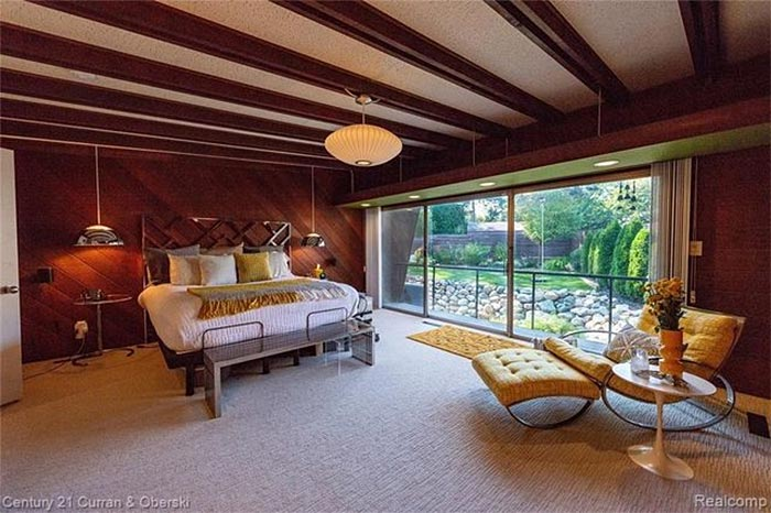 This Cool $1.3M Mid-Century Modern Home For Sale in Royal Oak Was Created by a Corvette Designer