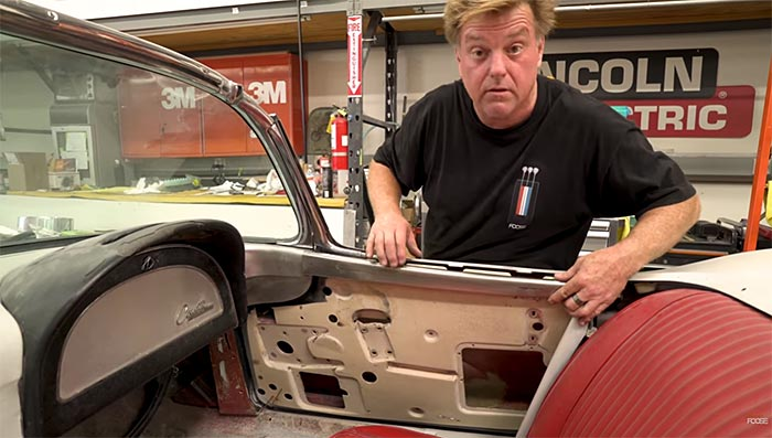 [VIDEO] Chip Foose Continues Work on a '62 Corvette With Metal Fabrication and a Quick Sketch