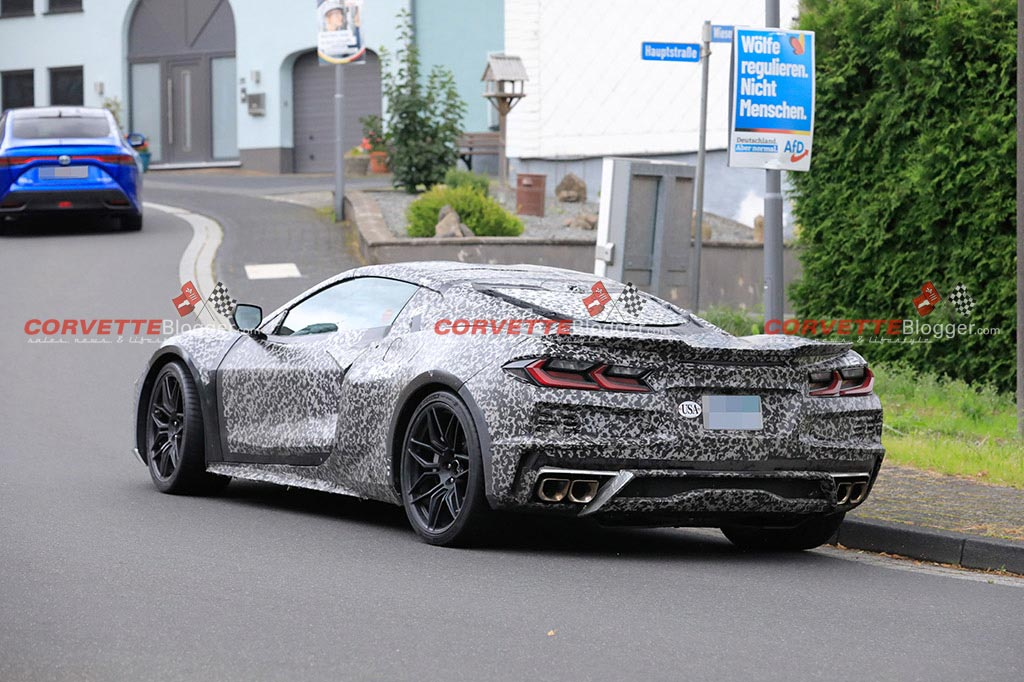 The C8 Corvette E-Ray Testing Outside the Nurburgring