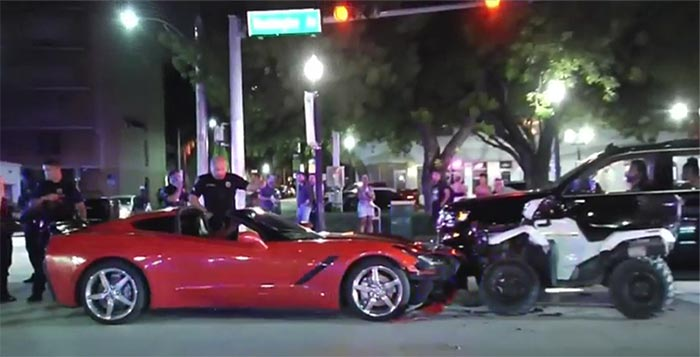 [ACCIDENT] Army Veterans Spring Into Action to Help Officer Struck by a C7 Corvette