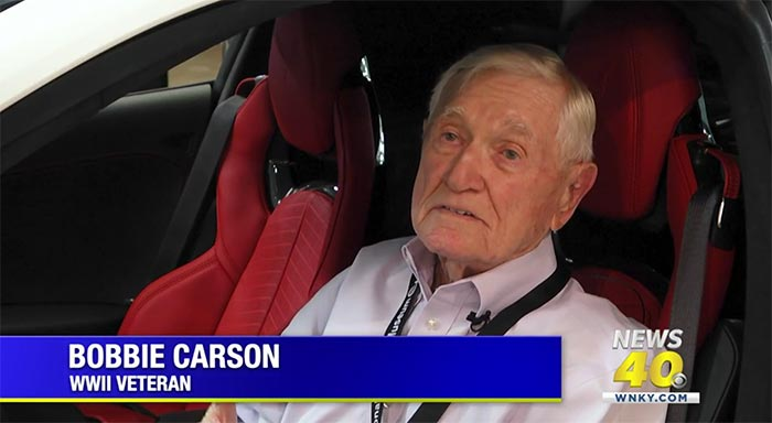 95-Year-Old World War II Moved to the Front of Line to Get His 2022 Corvette